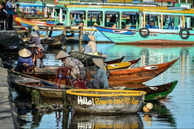 basket boat in Hoi An