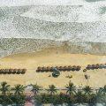 da nang beach bird view